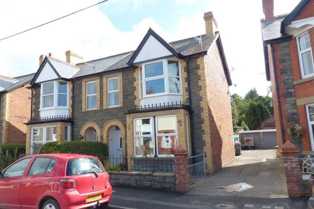 Thumbnail Semi-detached house for sale in Irfon Road, Builth Wells, 3De.