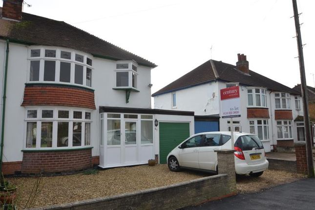 Thumbnail Semi-detached house to rent in Gartree Road, Stoneygate, Leicester
