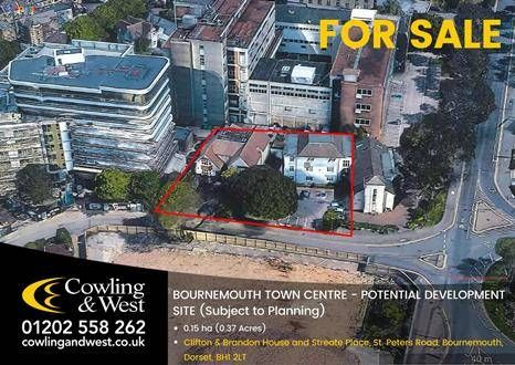 Thumbnail Land for sale in St. Peters Road, Bournemouth