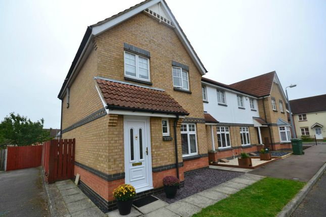 Thumbnail End terrace house to rent in Gulls Croft, Braintree, Essex