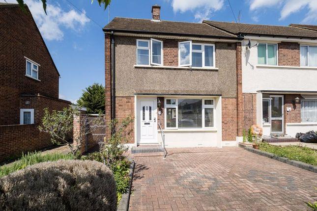 Thumbnail End terrace house for sale in Plough Rise, Cranham, Upminster