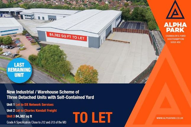 Thumbnail Warehouse to let in Unit 3 Alpha Park, Electron Way, Chandler's Ford, Hampshire