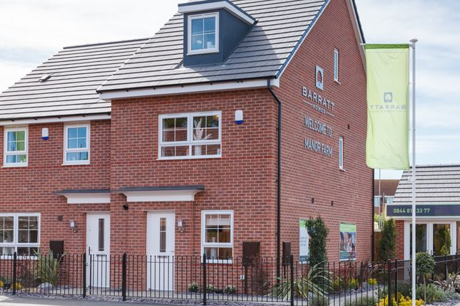 """Thumbnail Semi-detached house for sale in """"Kingsville"""" at Tiber Road, North Hykeham, Lincoln"""