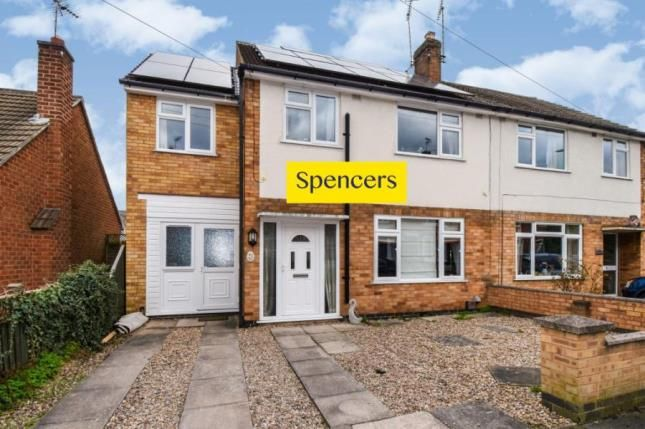 Thumbnail Semi-detached house for sale in Wellington Street, Syston, Leicester, Leicestershire