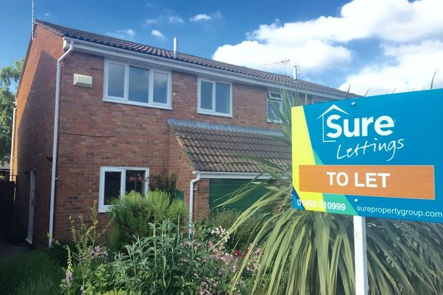 Thumbnail Semi-detached house to rent in Church Drive, Quedgeley, Gloucester