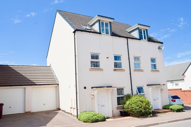 Thumbnail Semi-detached house for sale in Swallow Way, Cullompton