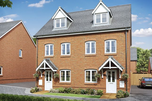 """3 bedroom end terrace house for sale in """"The Rosewood"""" at Allington Lane, Fair Oak, Eastleigh"""