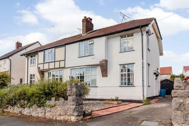 Thumbnail Semi-detached house for sale in Hall Road, Penrhyn Bay, Llandudno, Conwy