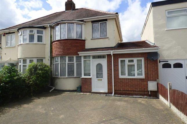 Thumbnail Semi-detached house to rent in Probert Road, Wolverhampton