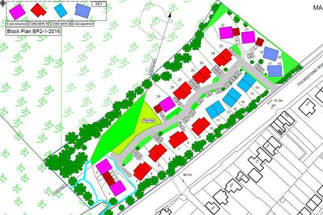 Thumbnail Land for sale in Folkestone Road, Dover
