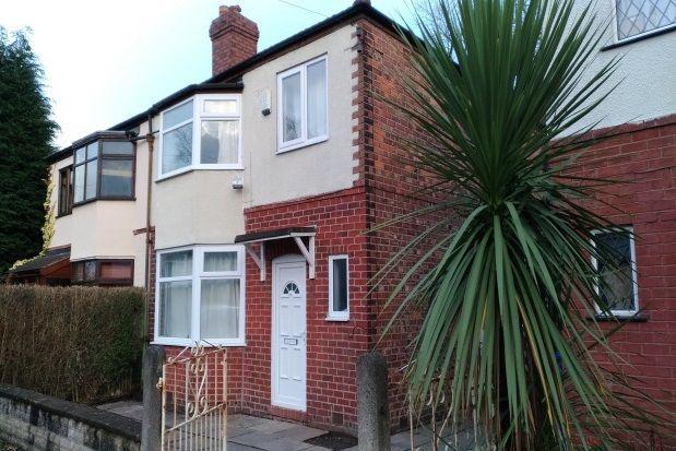 Thumbnail Semi-detached house to rent in Bentley Road, Chorlton