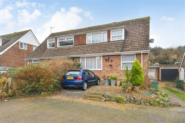 Thumbnail Semi-detached house for sale in Valebrook Close, Folkestone, Kent