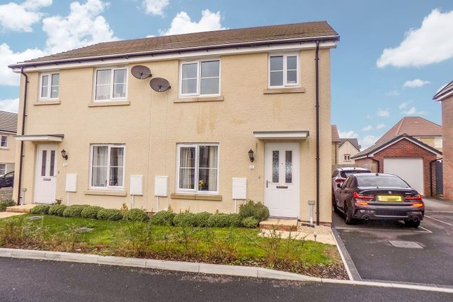Thumbnail Semi-detached house for sale in Heol Cambell, Coity, Bridgend.