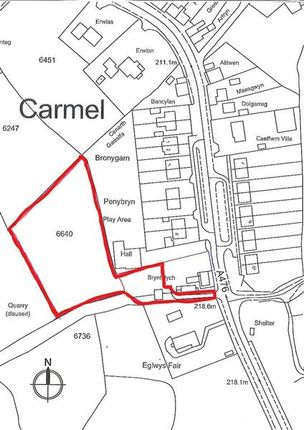 Thumbnail Land for sale in Plot Adjoining Bryntelych, Carmel, Llanelli