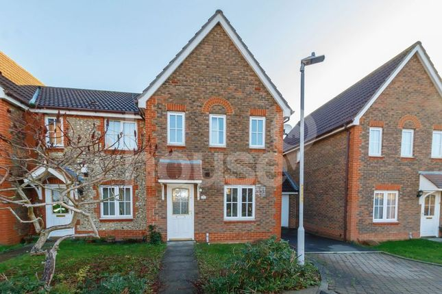 Thumbnail End terrace house to rent in Penny Cress Road, Minster On Sea, Sheerness