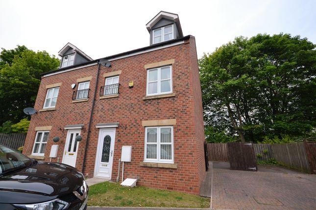 Thumbnail Town house to rent in Glebe Close, Fishburn, Stockton-On-Tees