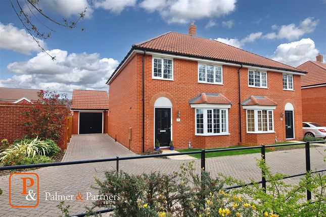 Thumbnail Semi-detached house for sale in Abbott Way, Holbrook, Ipswich