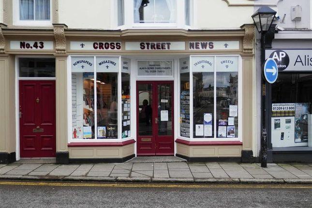 Retail premises for sale in Cross Street News, 43, Cross Street, Camborne, Cornwall