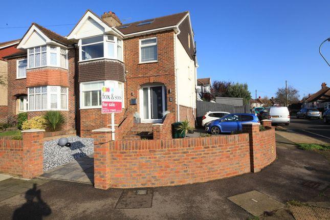 Thumbnail Semi-detached house for sale in Nevill Avenue, Hangleton, Hove