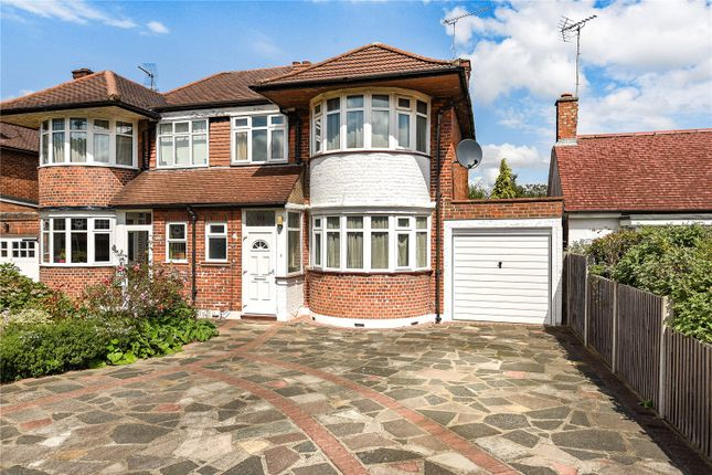 Thumbnail Semi-detached house for sale in Deane Croft Road, Pinner, Middlesex