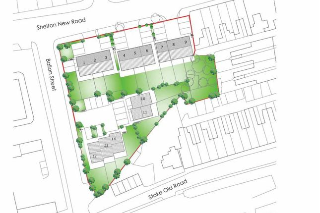 Thumbnail Land for sale in Shelton New Road, Hanley, Stoke-On-Trent