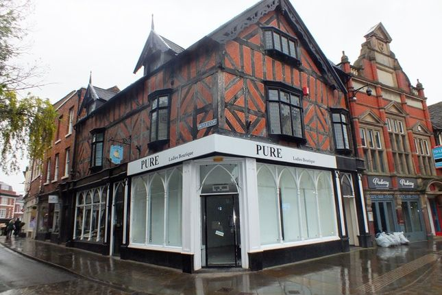 Retail premises to let in Wyle Cop, Shrewsbury