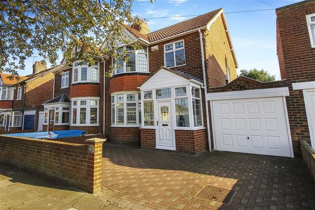 Thumbnail Semi-detached house for sale in Gorsedene Road, Whitley Bay, Tyne And Wear