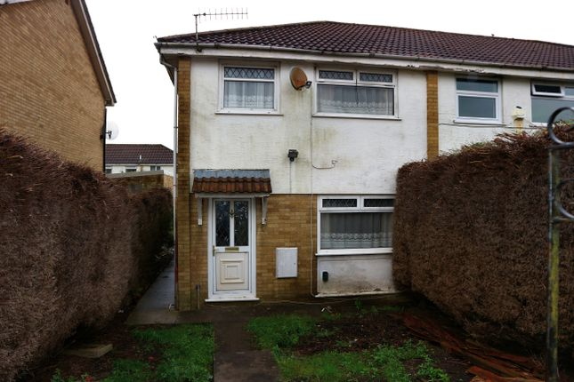 Thumbnail End terrace house for sale in Kidwelly Grove, Castle Park, Merthyr Tydfil