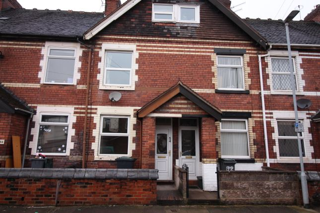 Thumbnail 3 bed terraced house to rent in Fletcher Road, Stoke On Trent
