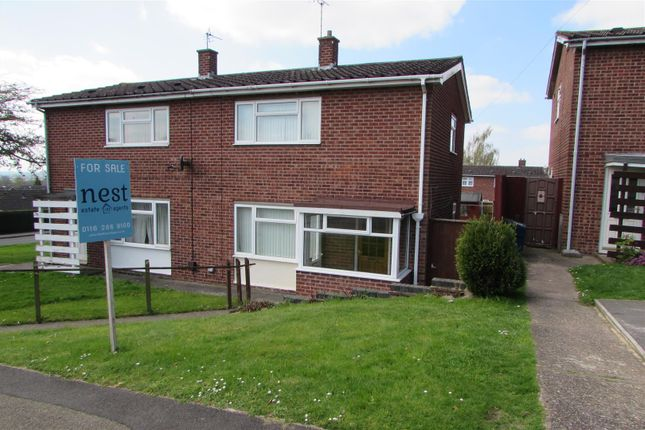 Thumbnail Semi-detached house for sale in Cherry Tree Grove, Enderby, Leicester