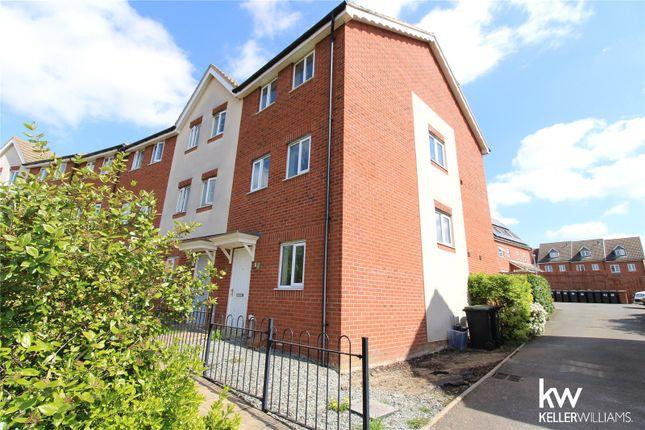 Thumbnail End terrace house to rent in Guillemot Close, Stowmarket