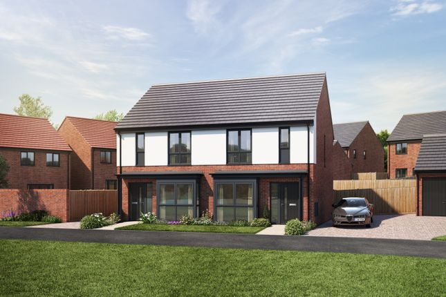 Thumbnail Semi-detached house for sale in Off Lower Milehouse Lane, Newcastle Under Lyme