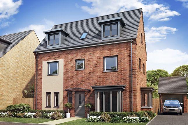 "Thumbnail Town house for sale in ""Hampton "" at Brickburn Close, Hampton Centre, Peterborough"