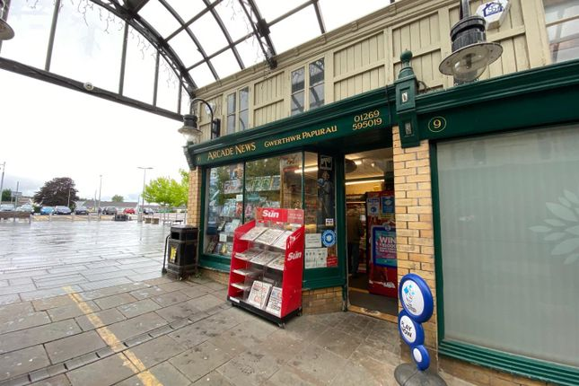Thumbnail Retail premises for sale in The Arcade, College Street, Ammanford