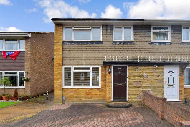 Thumbnail End terrace house for sale in Stanhope Road, Rainham, Essex