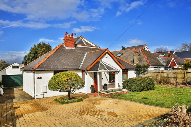 Thumbnail Detached bungalow for sale in Port Road East, Barry