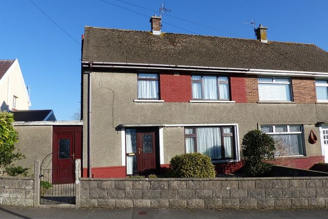 Thumbnail Semi-detached house for sale in Heol Onnen, North Cornelly, Bridgend.