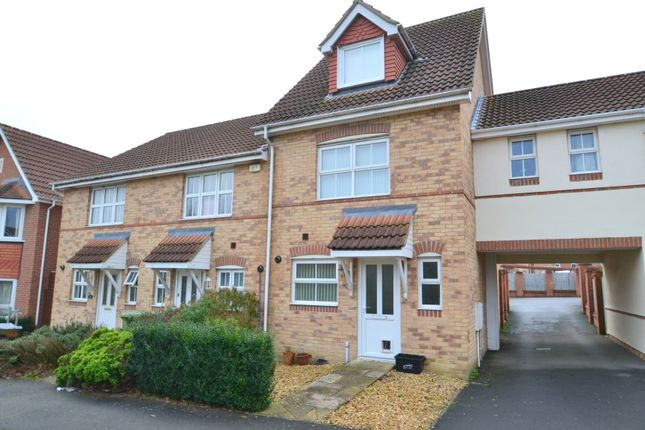Thumbnail End terrace house to rent in Jessica Crescent, Totton