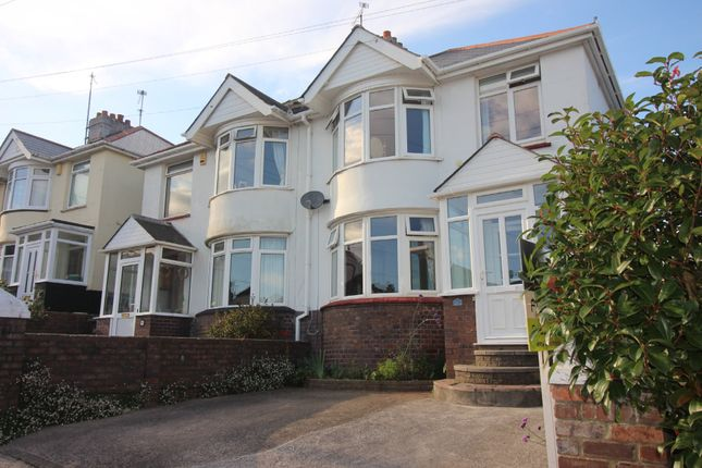 Thumbnail Semi-detached house for sale in Titchfield Gardens, Paignton