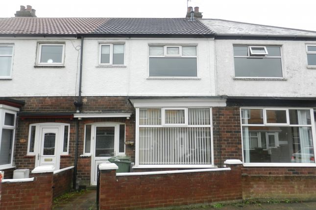 Thumbnail Terraced house to rent in Wall Street, Grimsby