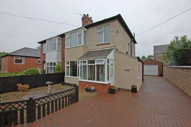 Thumbnail Semi-detached house for sale in Grange Avenue, Stamfordham, Newcastle Upon Tyne