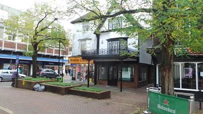 Retail premises to let in Middle Row, Ashford, Kent