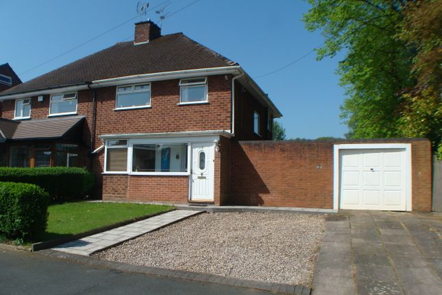 Thumbnail Semi-detached house for sale in Maple Road, Rednal