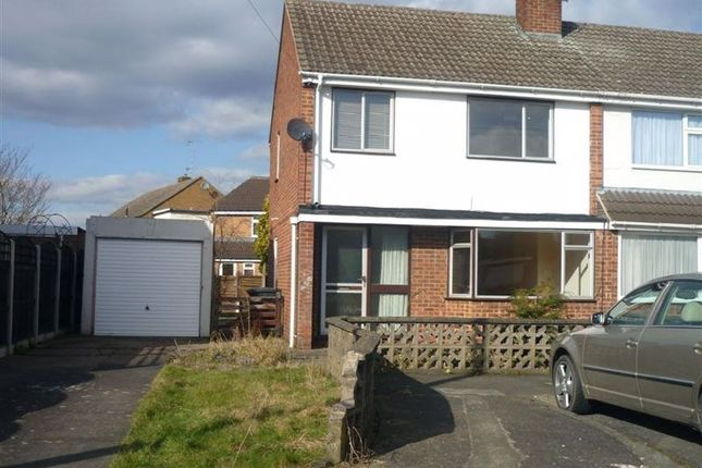 Thumbnail Semi-detached house to rent in Quorndon Crescent, Long Eaton