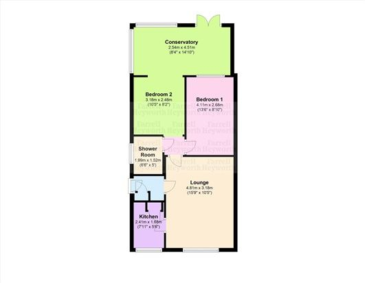 Floor Plan of Whitby Avenue, Preston PR2