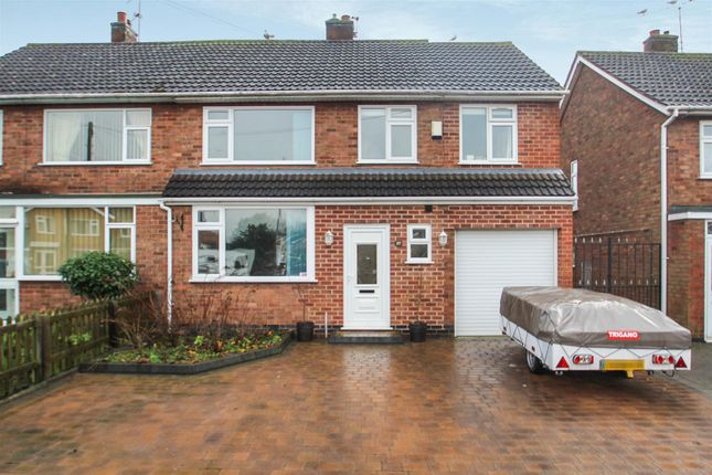 Thumbnail Semi-detached house for sale in St. Johns Avenue, Syston, Leicester
