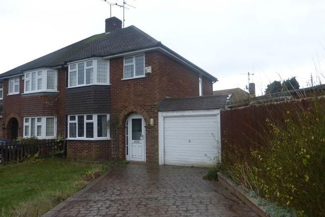Thumbnail Semi-detached house to rent in Robindale Avenue, Earley, Reading