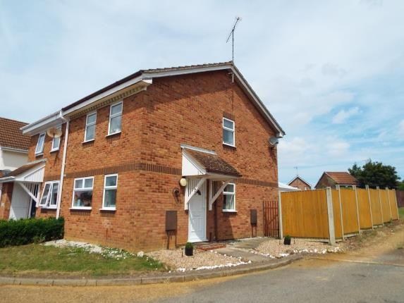 Thumbnail Semi-detached house for sale in Churchill Park, Kings Lynn, Norfolk