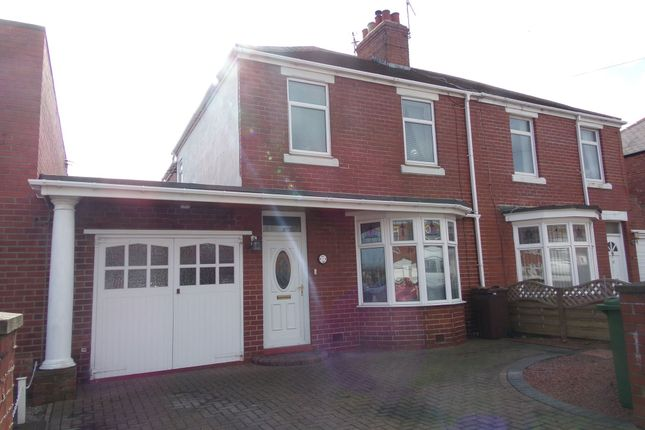Thumbnail Semi-detached house for sale in Moorland Avenue, Bedlington