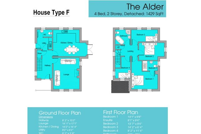 Thumbnail Detached house for sale in The Alder, Gortnessy Meadows, Derry